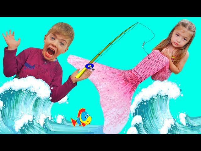 Bad Kid Magic Transform The Mermaid in sea Finger Family Song Nursery Rhyme Playground for Children