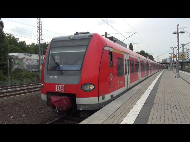 DB 423 763 423 254 | S-Bahn Rhein-Ruhr | Station Düsseldorf Zoo