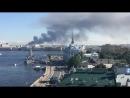 Пожар в Петербурге на улице 2-й Луч