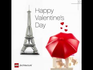 LEGO Architecture -  День Святого Валентина