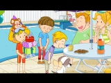 Party  Can Happy birthday! Can you swim- - Easy Dialogue - English video for Kids.