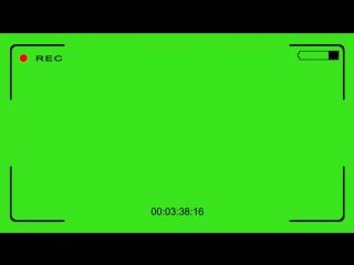 Футаж камеры на зелёном фоне