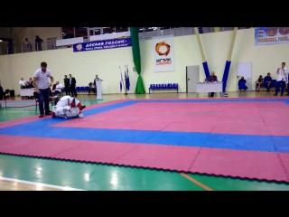 Курсант Майоров Владимир бой за 2 место в весовой категории до 65 кг