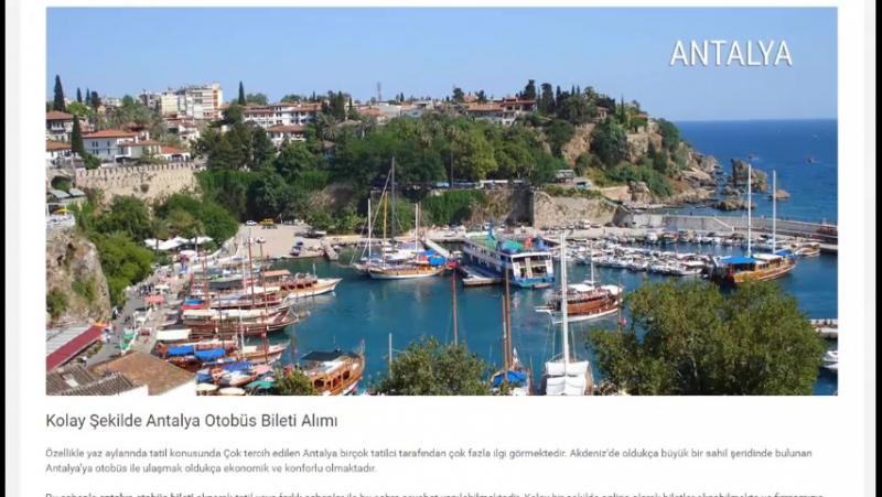 Antalya otobüs bileti