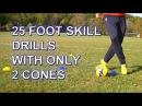 25 Fast Footwork Soccer Football foot skill drills with 2 cones PDSA Soccer