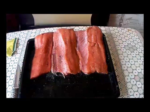 Красная рыба семужного посола , мой рецепт засолки лосося.