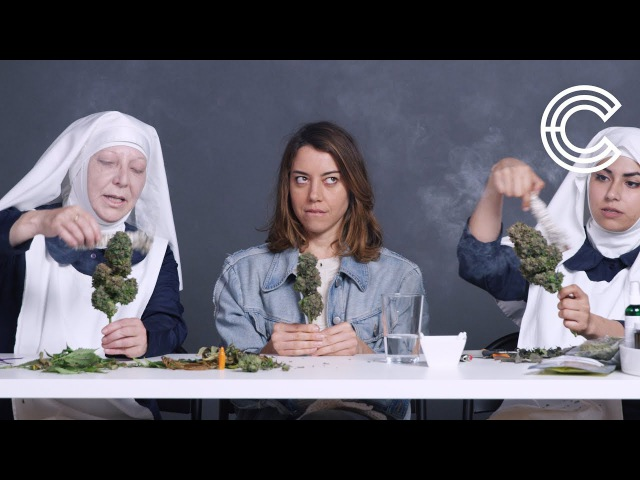Aubrey Plaza Smokes Pot with the Weed Nuns   Strange Buds   Cut