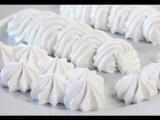 Видео рецепт Белковый заварной крем. Рецепт крема для украшения тортов, эклеров...