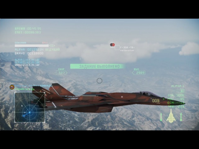 Ace Combat Infinity Su-44 (CFA-44) Strigon Leader, Test, B7R, 1500