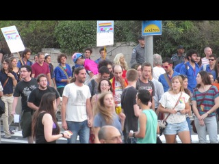 The Gay pride parade, Jerusalem, Israel - The march In the the streets of the capital of Israel