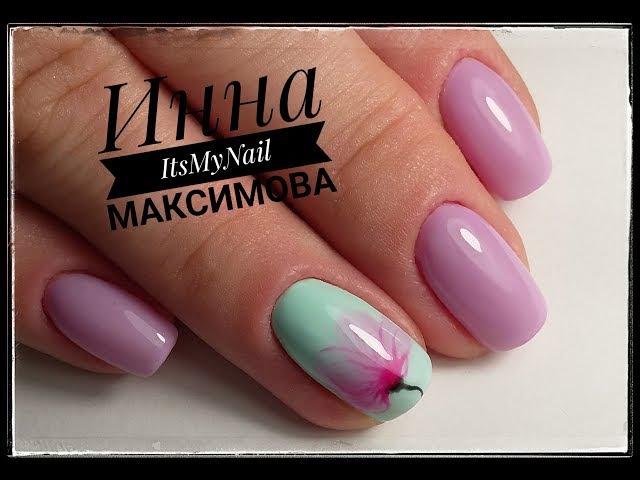 🌺 ПРОСТОЙ и НЕЖНЫЙ дизайн левой рукой 🌺 Итальянские гель лаки FIORE 🌺 Дизайн ногтей гель лаком 🌺
