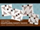 Video tutorial: 4 Disappearing shoofly blocks