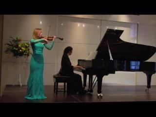 Prokofiev- Grand Waltz from Cinderella (Dunja Lavrova, violin and Sophia Rahman, piano)