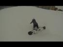 Жесткий первый раз катания на сноуборде