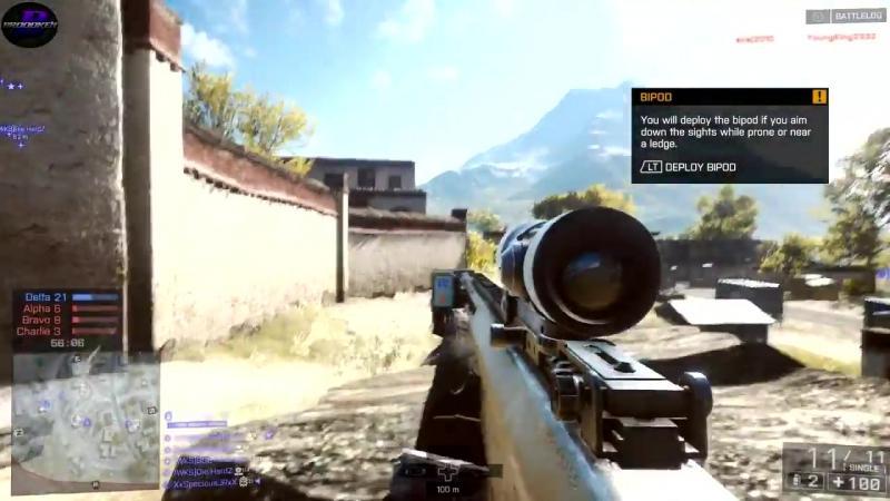 Battlefield 4 - 21 KILLSTREAK while playing Squad DEATHMATCH - AN-94 - XBOX ONE - 2015