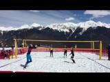 Чемпионат России по волейболу на снегу в Сочи