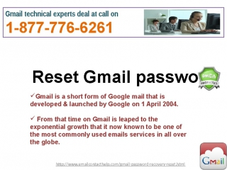 Forgot Gmail password@1-877-776-6261 : A blend of Promptness, Quality Excellence