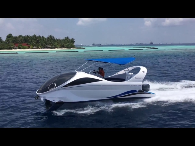High-speed Glass Bottom boat LOOKER 320. Maldives.
