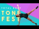 Total Body Tone Fest | Best apartment friendly workout for butt, abs arms!