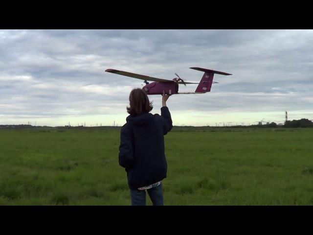 Самодельный FPV носитель SkyWalker1680 10 Полет с видеопередатчиком!