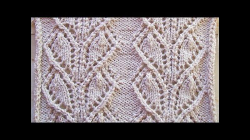 Ажурные широкие дорожки Вязание спицами Видеоуроки
