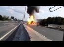 ACCIDENT D'UN CAMION TRANSPORTANT DES BOUTEILLES DE GAZ EXPLOSION