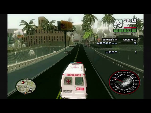GTA SanAndreas Winter Advanture Of Bus Driver Прохождение Миссии Медика - [© Lets play Игр GTA]