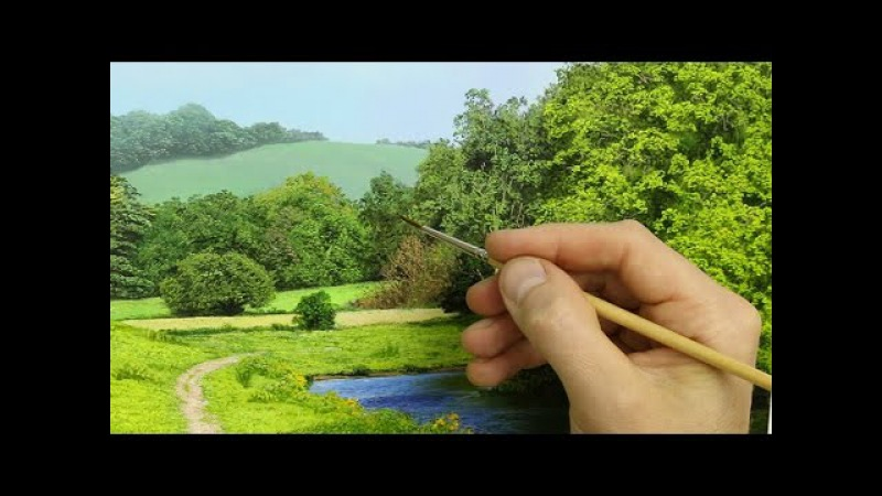 How To Paint Leaves, Rivers, and Flowers In A Landscape| Oil Painting Tutorial