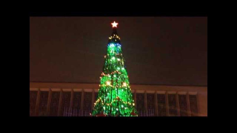 Новогодняя елка в Новосибирске. Christmas tree in Novosibirsk. Интересное видео про Новосиби ...