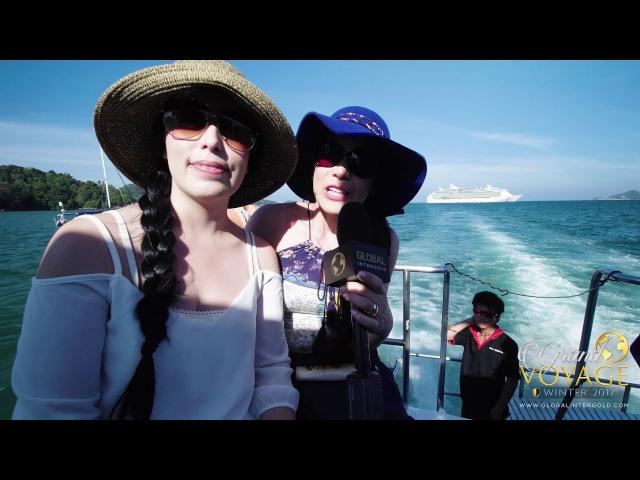 Grand Voyage Invierno 2017: Hanna Garduño y Carmen Rosa Ramírez en el barco
