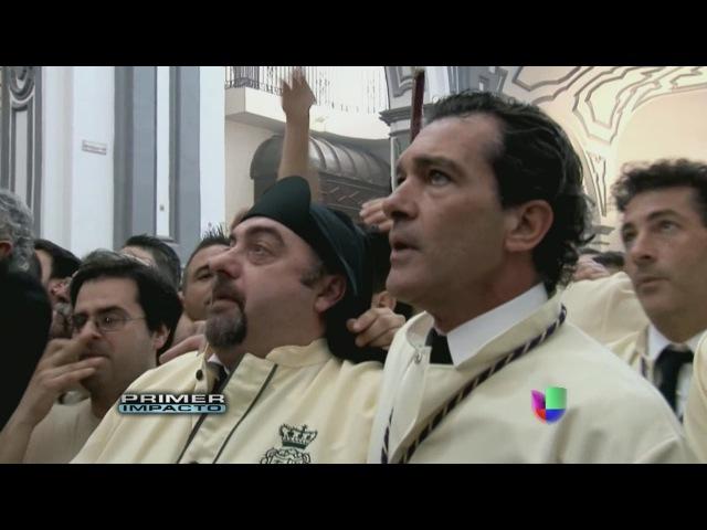 Antonio Banderas celebra la Semana Santa en Málaga, su ciudad natal, en España