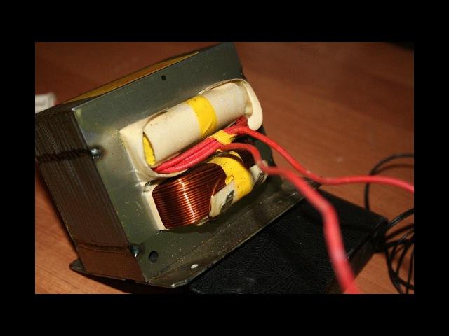 Сварка для медных скруток из трансформатора микроволновки.