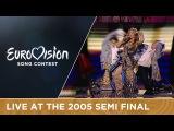 Angelica Agurbash - Love Me Tonight (Belarus) Live - Eurovision 2005