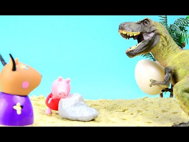 Dinosaur Park. Peppa Pig and Madame Gazelle in Jurassic Park / Свинка Пеппа и Динозавры