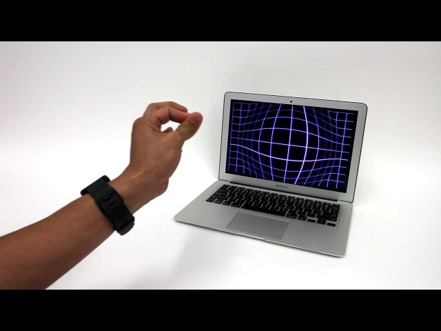 ViBand: High-Fidelity Bio-Acoustic Sensing Using Commodity Smartwatch Accelerometers