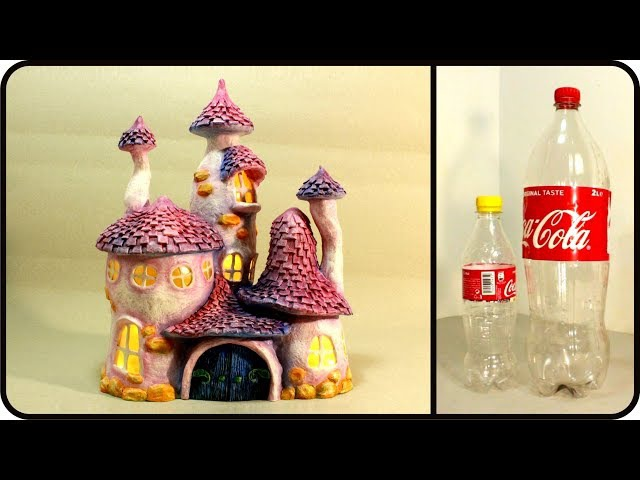 ❣DIY Whimsy Fairy House Recycling Plastic Bottles❣