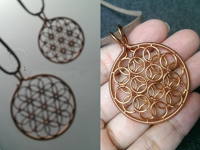 How to make Flower of life pendant - Working with Wire 258