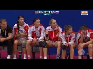 Гандбол. Россия - Дания. Чемпионат Европы. Женщины. 2-й период