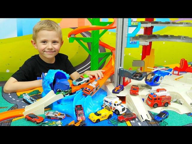 Машинки для детей и Хот Вилс Акула Мультики про Машинки Hot Wheels Полицейские маши