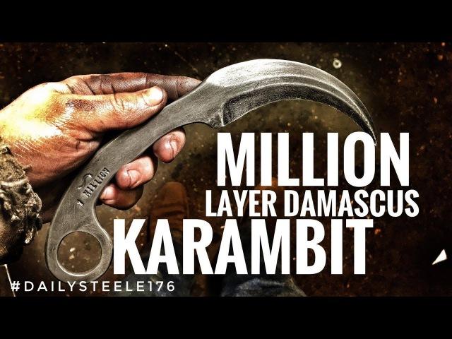 1 MILLION LAYER DAMASCUS KARAMBIT