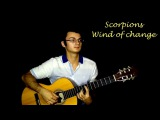 Scorpions - Wind of change. Acoustic guitar cover + solo