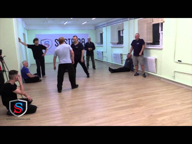 Seminar Systema Talanov in Moscow. Working against an opponent armed with a knife