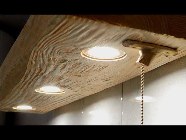 LED lit bathroom shelf