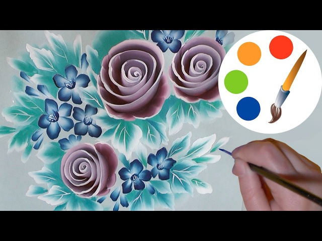 How to paint the spiral roses, One Stroke, irishkalia