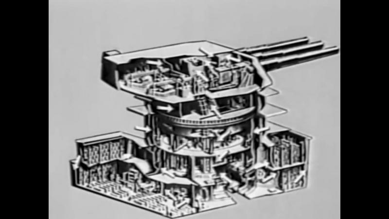 Устройство артиллерийских башен главного калибра американских линкоров класса «Айова»