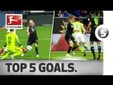 Чемпионат Германии 2016-17 / Лучшие голы 33-го тура / Топ-5 [HD 720p]