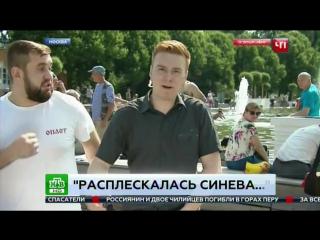 Десантник в День ВДВ ударил журналиста НТВ