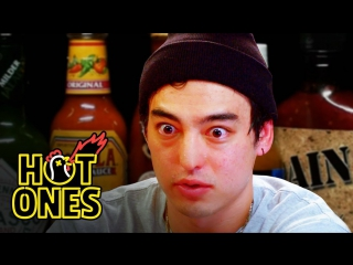 Joji Sets His Face on Fire While Eating Spicy Wings - Hot Ones