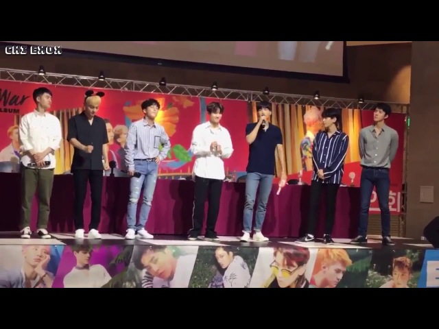 170815 EXO D.O Moment With EXO-L @ The War Fansign in Busan