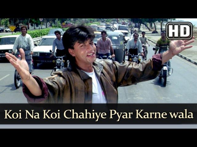 Koi Na Koi Chahiye Pyar karne wala (HD) - Deewana Song - Shahrukh Khan - Filmigaane